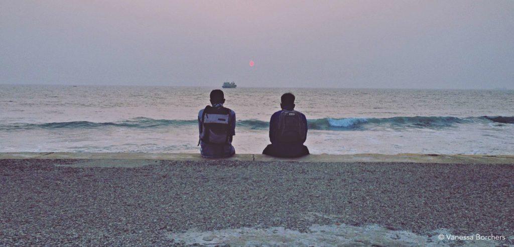 Sonnenuntergang Galle Face Beach Colombo