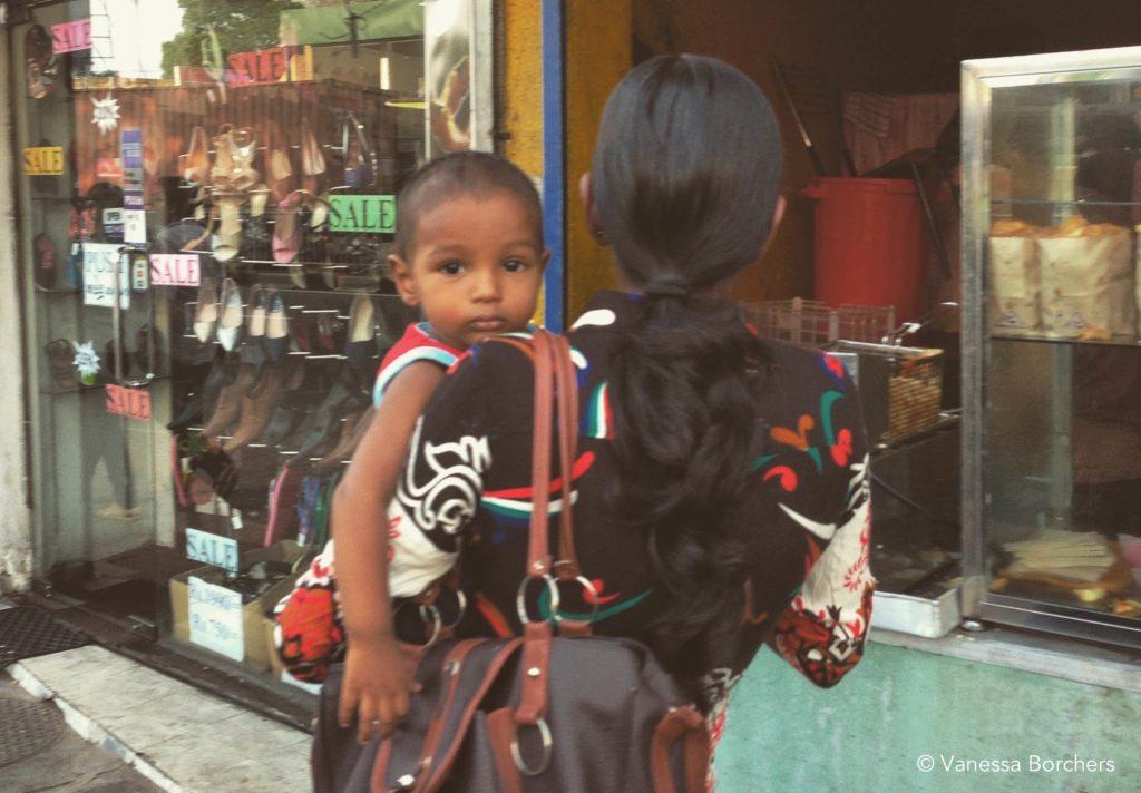 Menschen auf Sri Lanka